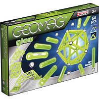 Конструктор магнитный Geomag Glow 64 детали (светящийся в темноте)