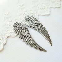 Крылья посеребренные, 65*21 мм