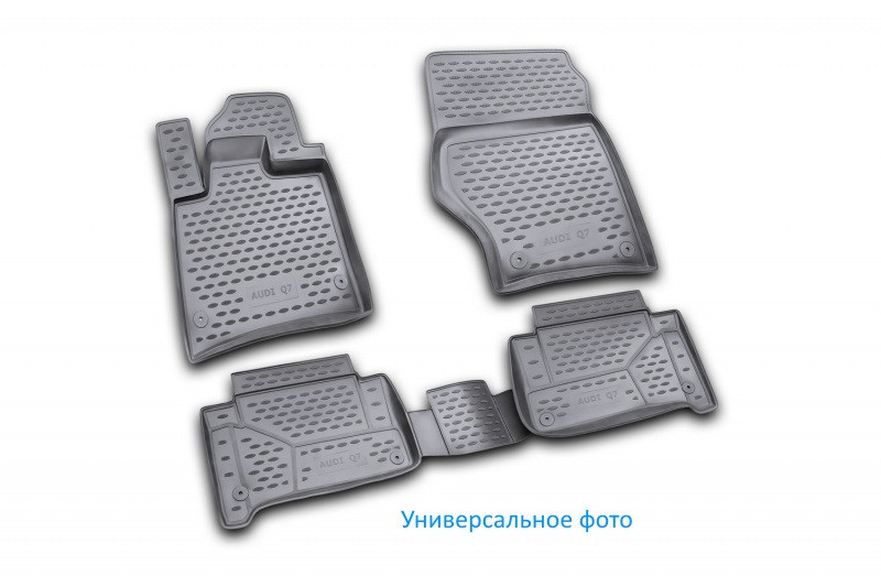 Коврики в салон для Chevrolet Spark 2010->, 4 шт полиуретан  CARCHV00015h