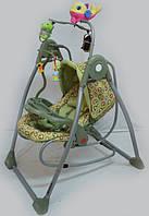 Шезлонг-качалка 2в1 RB-782. Оливковая., фото 1