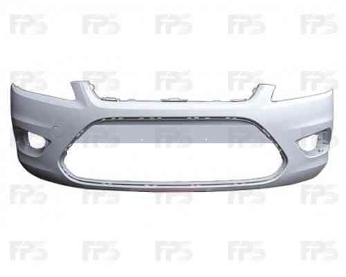Передний бампер Ford Focus II 08-11 черный (FPS)