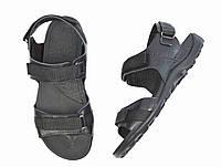 Черные мужские кожаные сандалии SAV на лето ( новинки )