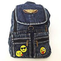 Рюкзак городской джинсовый