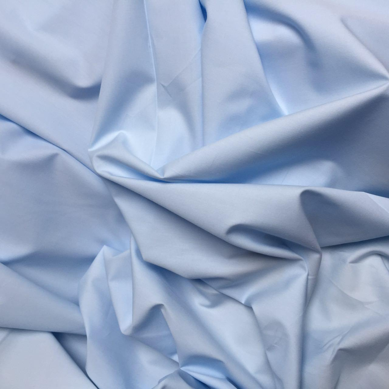Ткань хлопковая Mist голубого цвета №09