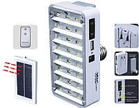 Фонарь лампа 9817 24SMD солнечная батарея+пульт д/у