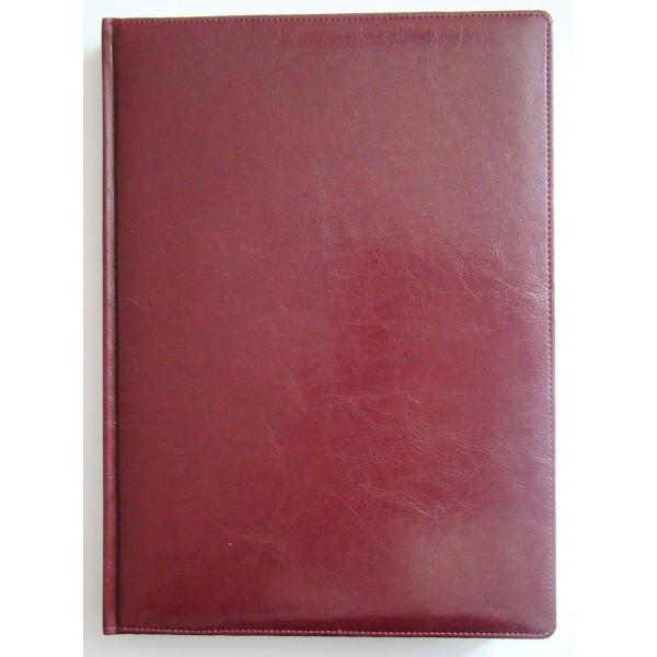 Ежедневник недатированный BRISK OFFICE SARIF А4, линия, 176 листов, кремовая бумага бордо
