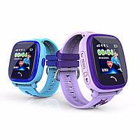 Детские умные gps часы Водонипроницаемые Smart baby watch DF25(ip67) blue, фото 4