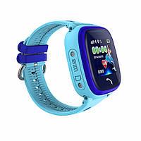 Детские умные gps часы Водонипроницаемые Smart baby watch DF25(ip67) blue, фото 5