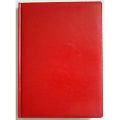 Ежедневник недатированный BRISK OFFICE SARIF А4, линия, 176 листов, кремовая бумага красный