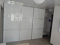 Двери купе с перемычками и белым стеклом
