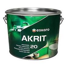 Akrit 20 9,5л - полуматовая краска для стен и потолков