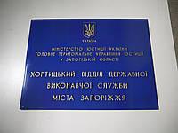 Табличка вывеска (фасадная) с объемными буквами