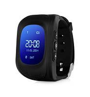 """Детские часы Q50 с GPS Black, GPS трекер (маяк для отслеживания детей), дисплей: 0,96"""", Стандарты связи GPS/GSM/GPRS, аккумулятор 400 mAh,"""
