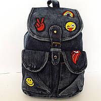 Джинсовый женский рюкзак
