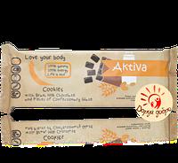 """Печенье сдобное """"Activa"""" с отрубями, молочным шоколадом и кусочками кондитерской глазури, 155 гр."""