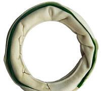 Лакомство для собак Camon Papillon, кольцо белое из пресованой кожи, 15см