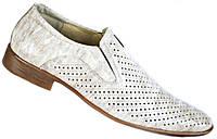 """Летние туфли мужские """"Strado"""". Бежевые. Натуральная лаковая кожа"""