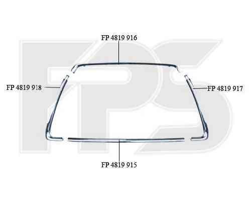 Рамка решетки в бампере Mitsubishi ASX 10-13 левая, хром. (FPS) 6400C963