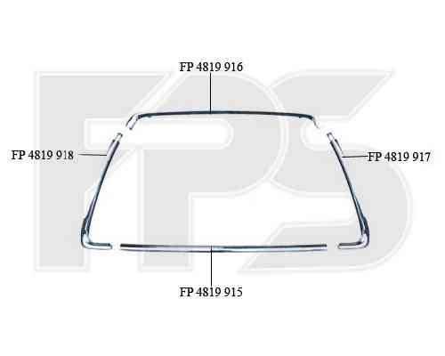Рамка решетки в бампере Mitsubishi ASX 10-13 левая, хром. (FPS) 6400C963, фото 2