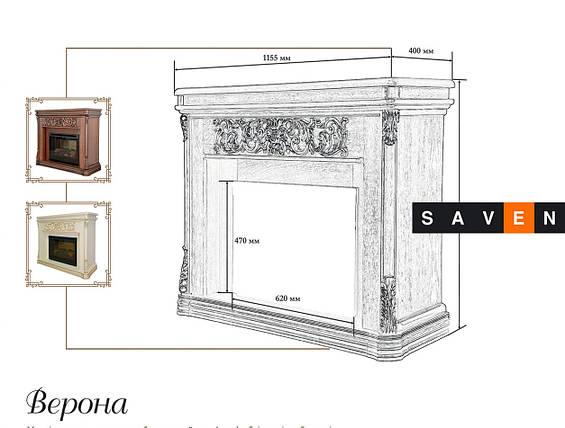 Портал для камина (облицовка) Foks Drev Milano для каминных топок Dimplex (белый), фото 2