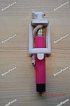 Монопод, палка для селфи розового цвета, фото 3