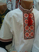 Мужская вышитая рубашка на короткий рукав.