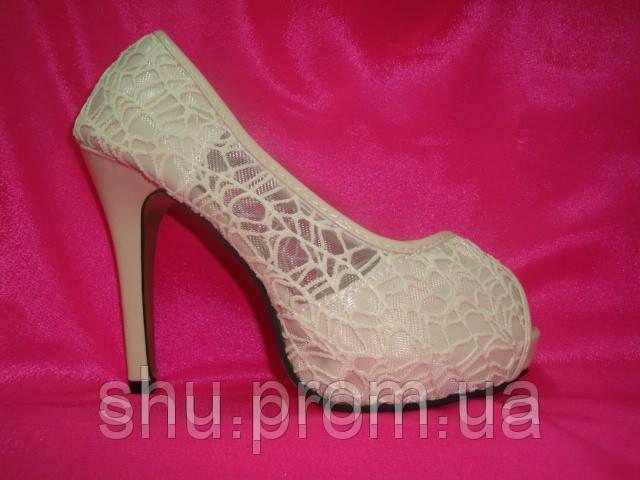 845625b24763 Свадебные туфли гипюровые цвета айвори - Интернет магазин «Шузы для  невесты» в Киеве