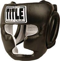 Боксерский закрытый защитный шлем TITLE Boxing Full Face Training Headgear