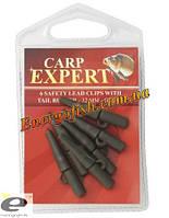 Клипса для груза Carp Expert 32 мм зелёная 6 шт