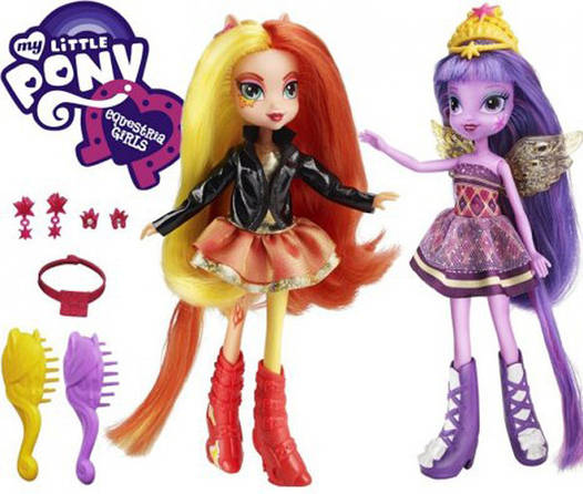 My Little Pony Equestria Girls Sunset Shimmer & Twilight Sparkle (Май Литл Пони Куклы Сансет Шиммер и Искорка)