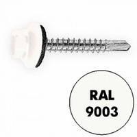 Саморез по металлу с шестигранной головкой 4,8x19 RAL 9003