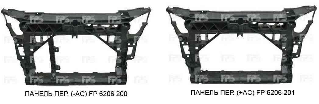 Передняя панель Seat Ibiza 08- без кондиционера 6J0805588