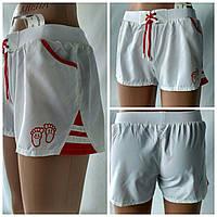 """Летние  спортивные шорты  для девочек  """"Сет"""" белого цвета"""