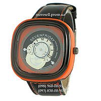 Часы Sevenfriday Leather Orange-Black