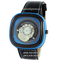 Часы Sevenfriday Leather Sky-Blue-Black