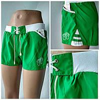 """Летние  спортивные шорты  для девочек  """"Сет""""зеленого цвета"""