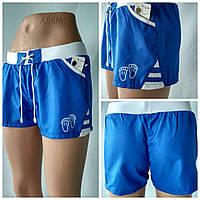 """Летние  спортивные шорты  для девочек  """"Сет"""" синего цвета"""