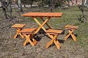 Набор скадной стол и 4 стула (белый)