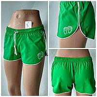 """Летние  спортивные шорты  для девочек  """" Спорт""""   зеленый цвета"""