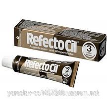 Краска для бровей и ресниц Refectocil №3, коричневая