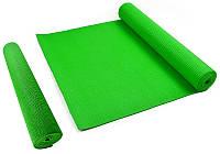 Коврик гимнастический Мата для Фитнес, Пилатес, Йоги - Yoga Mate Green 172,5x61cm x 4mm