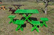 Набор скадной стол и 4 стула. (зеленый)