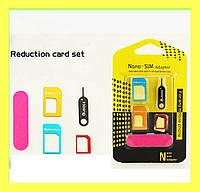 Адаптер для SIM-карты IParts 4 1 Nano Sim & SIM/iphone 6 5S 5C 5 4S 4 Universal Адаптеры для SIM-карты