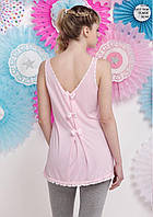 Пижама женская весна-лето футболка+капри вискоза, коттон Aqua.