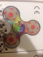 Фосфорный спиннер Футбол Hand spinner Fluo, светящийся в темноте спиннер Смайлик, фото 1