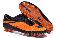 Футбольные бутсы Nike HyperVenom Phantom AG Orange/Black 41, фото 1