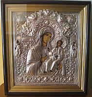 Икона в посеребренной ризе Божья Матерь Одигитрия (Божа Мати Одигітрія) Путеводительница