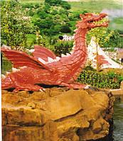 """Скульптуры из фибробитона """"Дракон"""" 12 м. высота"""