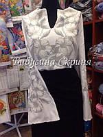 Заготовка жіночої сорочки для вишивки нитками/бісером БС-67, фото 1