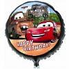Фольгированный шар наполненный гелием Тачки
